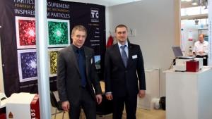 Dr. Torsten Hübner (links) und Dmitri Tausenev, Sympatec GmbH