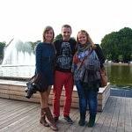 Meine Kommilitonen und ich im Gorki-Park