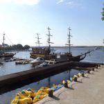 Ausblick auf den See vom Veranstaltungsort Kljasma