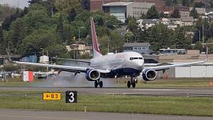 Transaero airplane