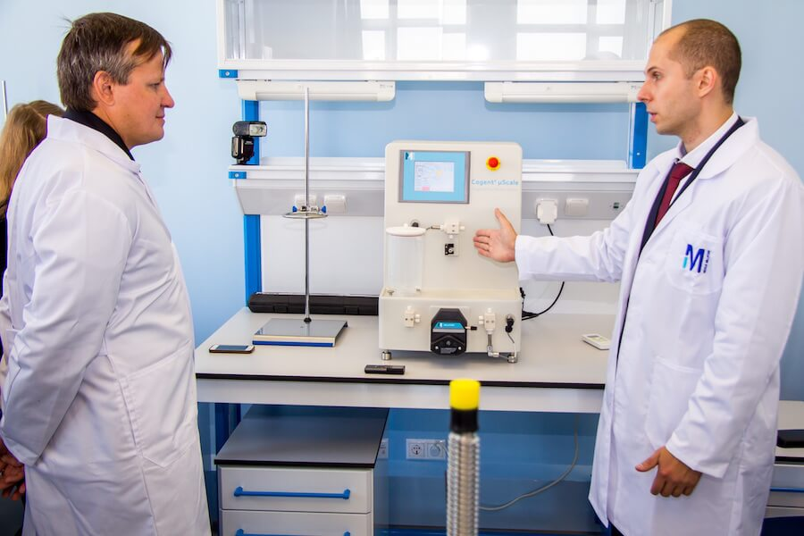 Ein Labor von Merck Russia