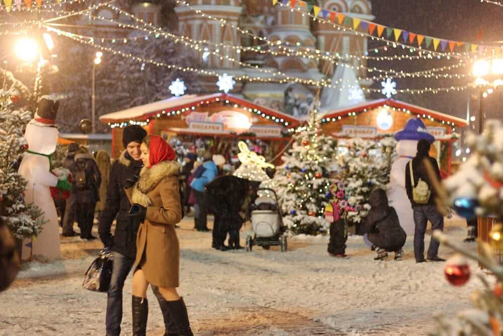 Neujahrsgeschäft in Russland