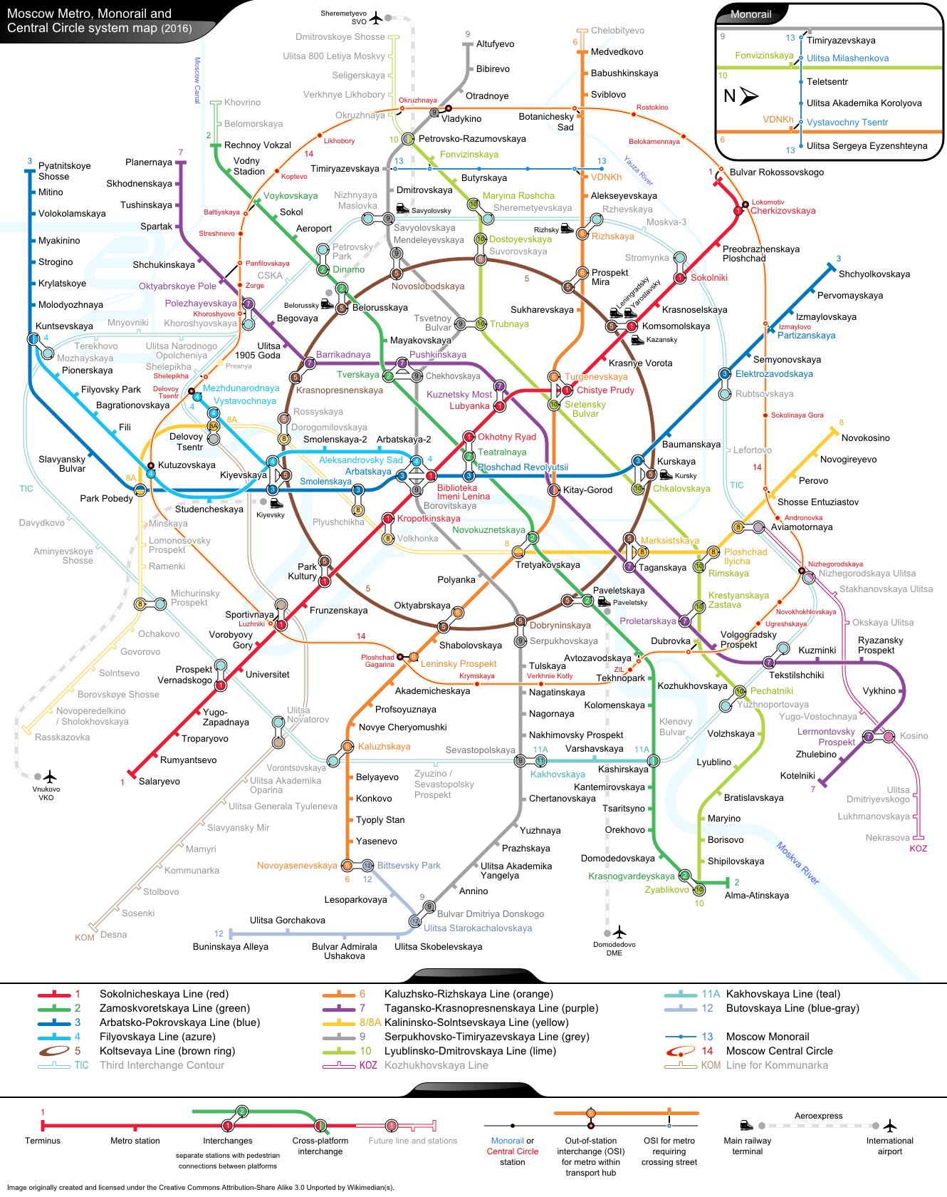 So wird das Metro-Netz in Moskau 2020 vermutlich aussehen,