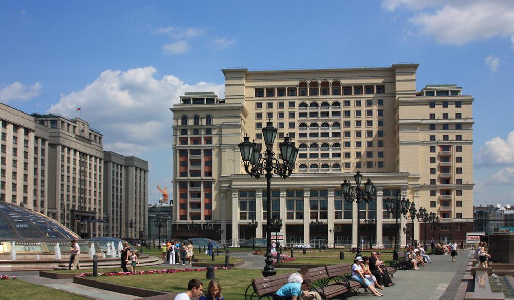 """Der Neuaufbau des historischen Hotels """"Moskau"""" war eines der Strabag-Projekte. © Strabag SE"""